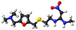 Ranitidine ball-and-stick model.png