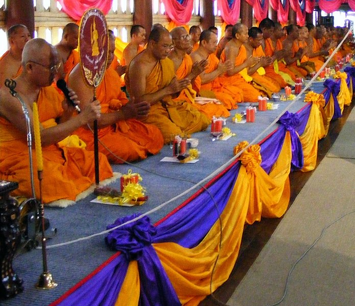 Lêer:Rank celebration of Thai Buddhist monk 1.jpg