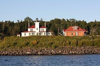 Raspberry Island (Wisconsin) - Raspberry Island Light Station from Lake Superior