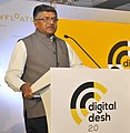 "Ravi Shankar Prasad addressing at the release of the ""Digital Desh 2.0 –Inside The Internet of India""- a book takes us to the real superpower of Digital India, in New Delhi.jpg"