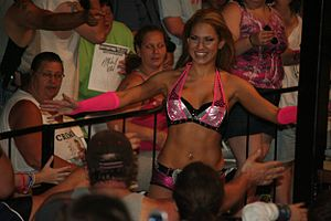 Reby Sky - Sky making her way to the wrestling ring in May 2012.