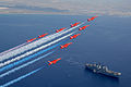 Red Arrows flying over HMS Illustrious. MOD 45147895.jpg