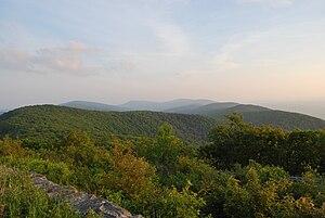 Reddish Knob - Looking south along Shenandoah Mountain