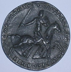 Reitersiegel (Bleiabguß) Adolfs V. von Berg.jpg