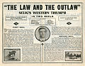 Release flier for THE LAW AND THE OUTLAW, 1913 (Page 2).jpg