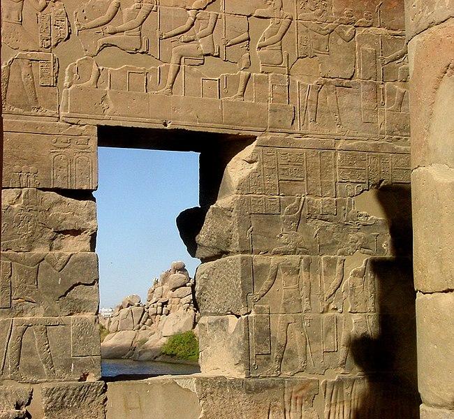 ملف:Relief from the Temple of Philae by John Campana2.jpg
