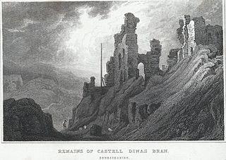 Remains of Castell Dinas Bran, Denbighshire