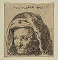 Rembrandt's Mother in a Cloth Headress, Looking Down MET DP814392.jpg