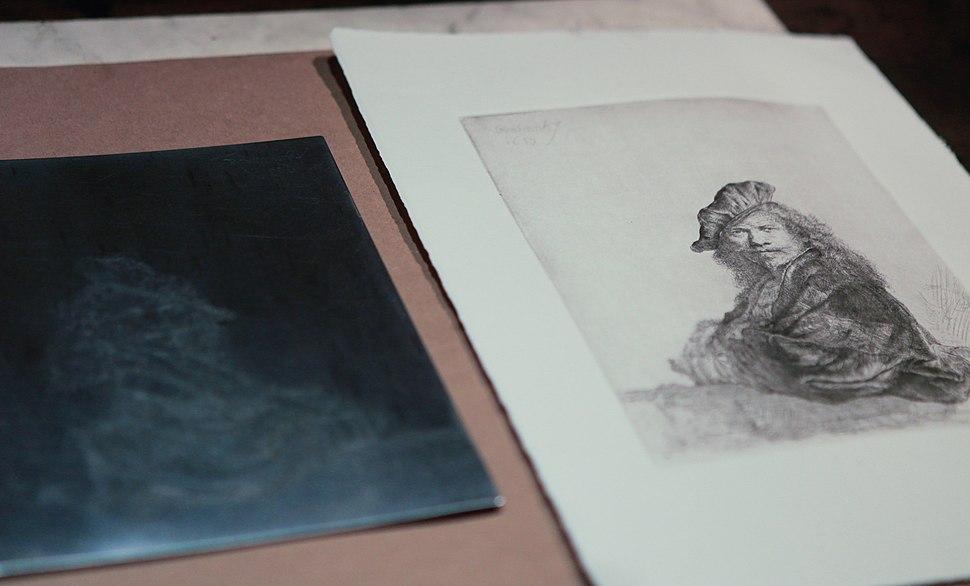 Rembrandt - self portrait etching