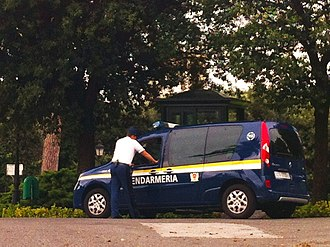 Corps of Gendarmerie of Vatican City - A Gendarmerie car in the Vatican Gardens