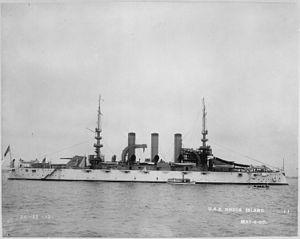 USS Rhode Island (BB-17) - Rhode Island in 1907