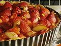 Rhubarbed Strawberry Daiquiri Tart Baking (4922765316).jpg