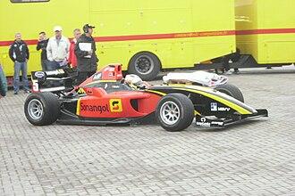 Ricardo Teixeira (racing driver) - Teixeira at the Oschersleben round of the 2010 FIA Formula Two Championship.