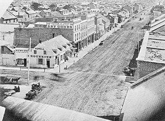 Rideau Street - Rideau and Dalhousie in  1860