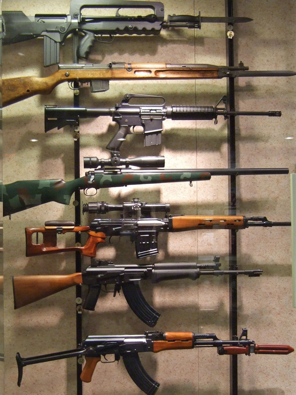 Rifles at the National Firearms Museum