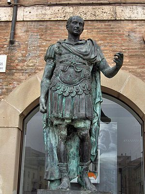 Emperor - A statue of the dictator Julius Caesar.