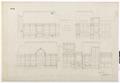 Ritning, inredning av kapprummet, Hallwylska palatset - Hallwylska museet - 102149.tif