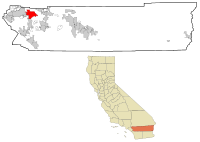Riverside County California Incorporated and Unincorporated areas Moreno Valley Highlighted.svg