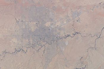 English: Astronaut Photo of Riyadh, Saudi Arab...