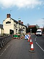Roadworks and the Vine - geograph.org.uk - 410789.jpg