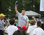 Rob Gronkowski football camp a 'touchdown' with youth at JBA 150702-F-CX842-715.jpg