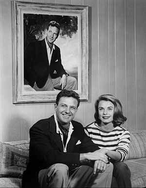 Robert Stack - Robert and Rosemarie Stack at home in 1961
