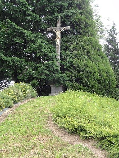 Rocquigny (Aisne) croix de chemin