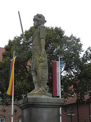 Bad Bramstedt - Roland statue in Bad Bramstedt