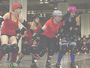 "Some of the ""Roller Derby Girls"" of ..."