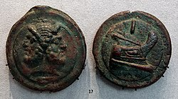 Roma, aes grave, asse, 225-217 ac ca.JPG