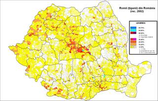 Populatia de etnie roma, tigani pe comune