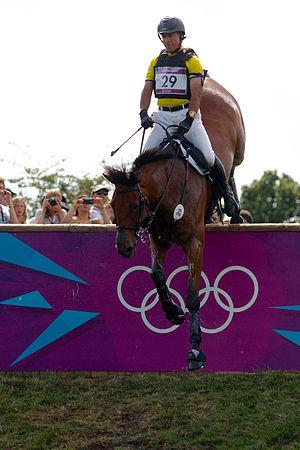 Ecuador at the 2012 Summer Olympics - Ronald Zabala and his horse Master Rose in individual eventing.
