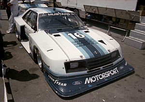 Zakspeed - Klaus Ludwig drove the Roush-Zakspeed Ford Mustang Turbo during the 1981 and 1982 Camel GT race seasons.