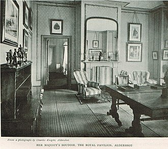 Royal Pavilion, Aldershot - Queen Victoria's boudoir in the Pavilion in 1900