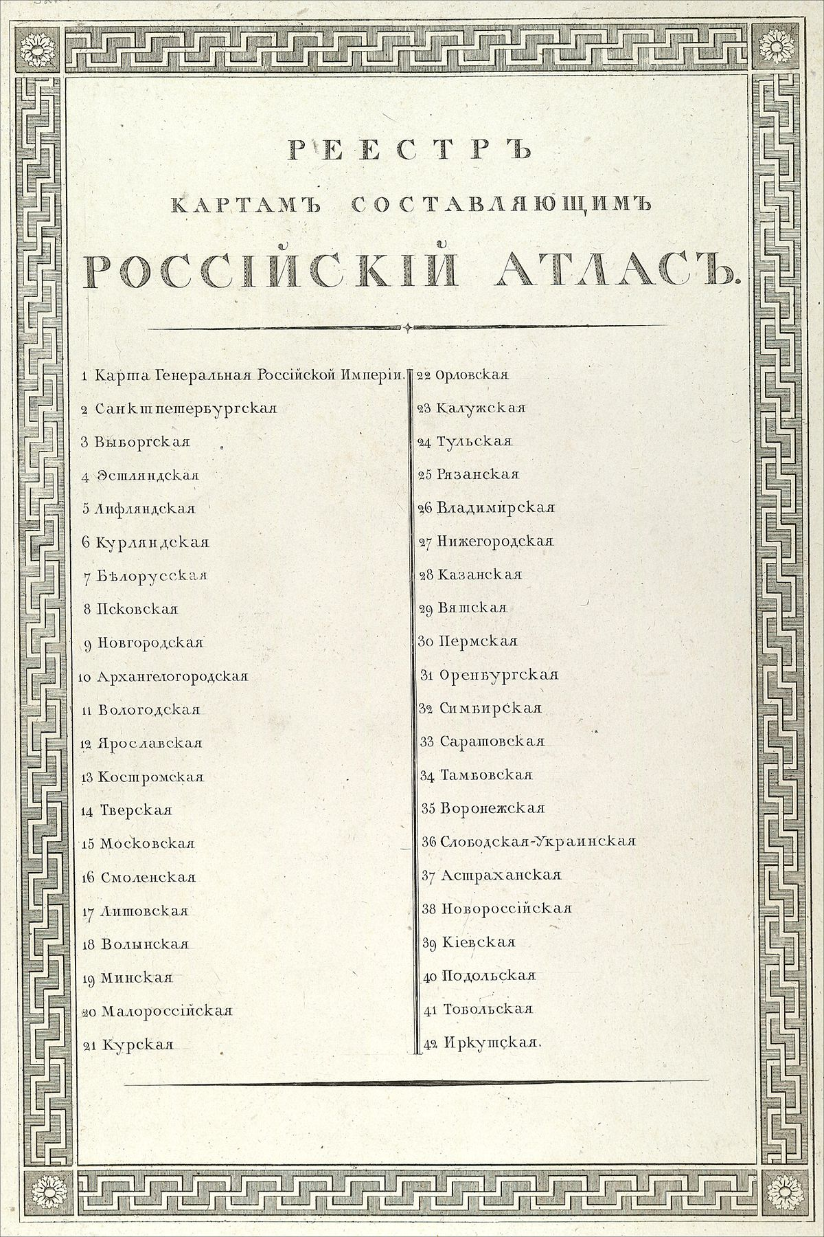 File Russianempiremap1800 00b Table Of Contents Jpg Wikimedia