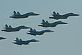 Russian Air Force fighter formation - Zhukovsky 2012 (8724698862).jpg