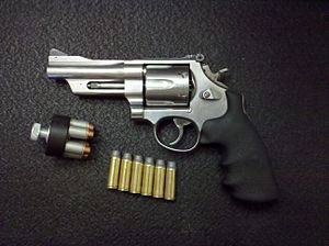 Smith & Wesson Model 625 - Image: S&W Mountain Gun M625 6 .45 LC
