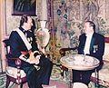 S.M. Juan Carlos I et Djelloul Khatib, 1988.jpg