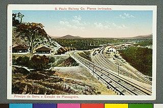 S. Paulo Railway Co. Planos Inclinados. - Principio da Serra e Estação de Piassagnèra