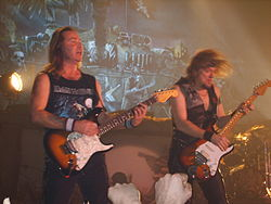 Dr Adrian Smith un dr Dave Murray Live z Schduagert