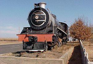 Breyten - SAR Class 19 no. 1369, plinthed in Breyten