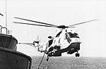 SH-3H Sea King of HS-7 is refueled by USS Dahlgren (DDG-43) in 1976.jpg
