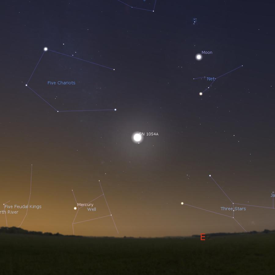 SN 1054 4th Jul 1054 043000 UTC+0800 Kaifeng
