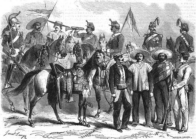 Archivo:SOLDATS DE L'ARMÉE MEXICAINE. — D'après un croquis