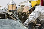 SPMAGTF-CR-AF Marines & Spanish firefighters conduct vehicle extrication training 160427-M-QM580-004.jpg