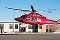 STARS AW139 helicopter landing in Pincher Creek.jpg