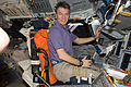 STS-133 ISS-26 Paolo Nespoli on the flight deck of Discovery.jpg