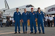 STS-135 crew after landing