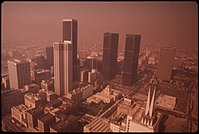 Los Angeles, shrouded in haze