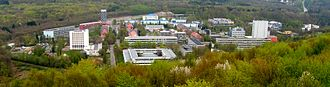 Saarland University - A view of the main campus from the nearby hills